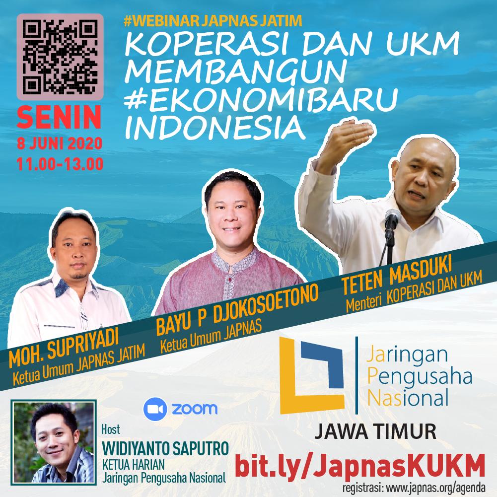 Webinar Japnas bersama Menteri Koperasi dan KUKM 8 juni 2020